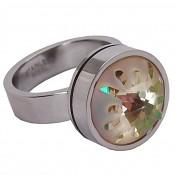 14 Change&Go nerezový prsten s krystalem 11695 14 mm Luminous Green