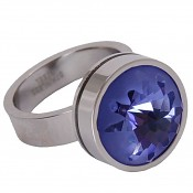 14 Change&Go nerezový prsten s krystalem 11695 14 mm Tanzanite