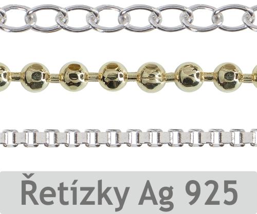 c4bc32e05 ... Řetízky bižuterní Rhodium Gold, Řetízky stříbrné Ag 925 Pletené