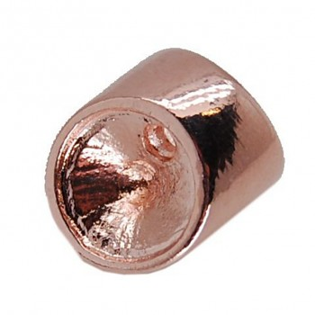 LEATHER koncovka rivoli 10mm ROSE GOLD