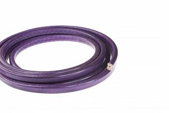 LEATHER pásek 10x7mm fialová