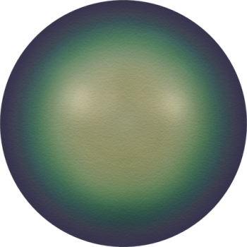 5810 MM  3 CRYSTAL SCARABAEUS GREEN PRL