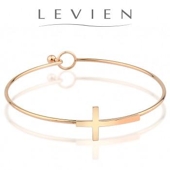 Bracelet CROSS Stainless Steel Rose Gold