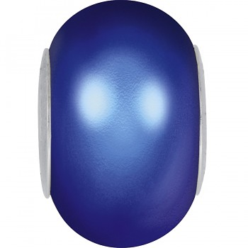 5890 MM 14 CRYSTAL IRIDESCENT DARK BLUE PEARL STEEL
