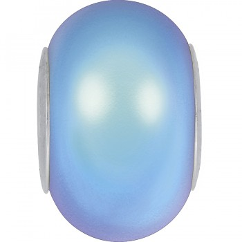 5890 MM 14 CRYSTAL IRIDESCENT LIGHT BLUE PEARL STEEL