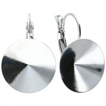 Náušnice klapka RIVOLI 18mm Rhodiované