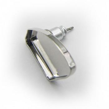 Náušnice puzeta GALACTIC 19mm Rhodiované