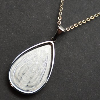 Ocelový náhrdelník pro ROCKS PEAR 24x14mm vysoce leštěný