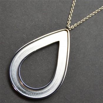 Ocelový náhrdelník pro ROCKS PEAR 49x31mm vysoce leštěný