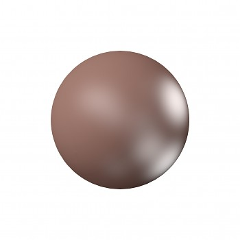 5818 MM  6 CRYSTAL VELVET BROWN PEARL
