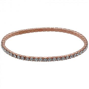 Bracelet MULTIelastic CRYSTAL Rose Gold Plated