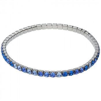 Náramek MULTIelastic Rhodium MIX BLUE