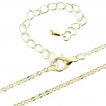 Chain FLAT-1,5mm 45+5cm Gold Plated