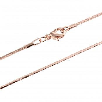 Řetízek SNAKE-4 45+5cm ROSE GOLD