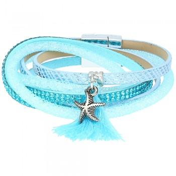 Bracelet 2/Blue Pompon 18cm