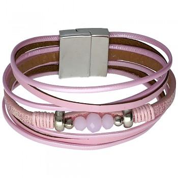 Náramek 1/Rose Opal Beads 18cm