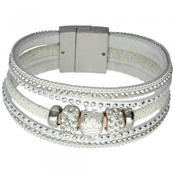 Náramek 1/White Beads 18cm