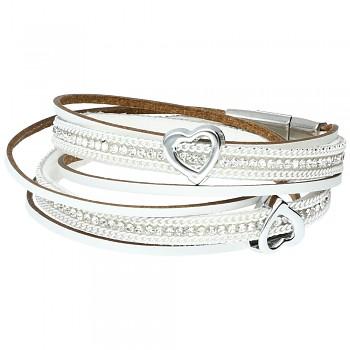 Bracelet 1/Hearts White 18cm