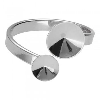 Prsten RIVOLI  6-8mm Rhodiovaný