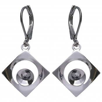 Náušnice KLB CHATON SQUARE 6mm/ss29 Rhodium