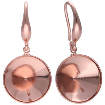 Náušnice HA DENTELLE 13.5mm/ss55 Elegantní Rose Gold