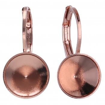 Náušnice klapka CHATON s39-8mm ROSE GOLD