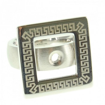 CHANGE & GO ! Ring LASER Square Stainless Steel