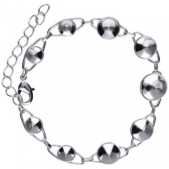 Bracelet CHATON9 GRADATION Rhodium Plated