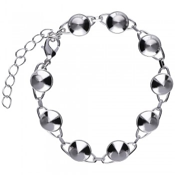 Bracelet CHATON9 x8mm Rhodium Plated