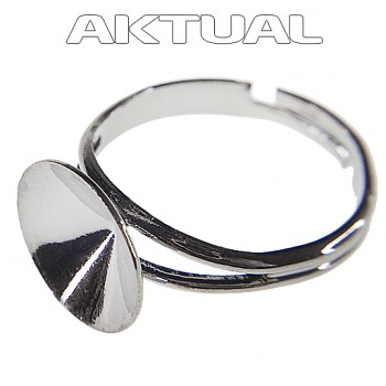 Ring DOME 12mm Rhodium Plated