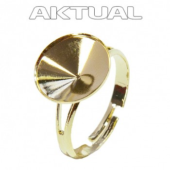Ring DOME 14mm GOLD Plated Plated Au24kt