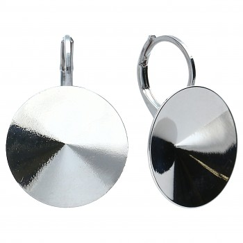 Náušnice klapka RIVOLI 14mm OBLOUK Platina