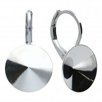 Náušnice klapka RIVOLI 10mm OBLOUK Rhodiované