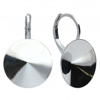 Náušnice klapka RIVOLI 12mm OBLOUK Rhodiované