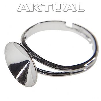 Prsten RIVOLI 12mm Platina