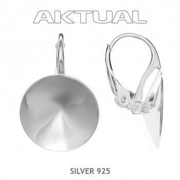 Náušnice klapka RIVOLI  8mm, Ag925+Platina, 0.67g