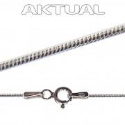 Řetízek SNAKE 0,8mm 38cm 1,71g Ag