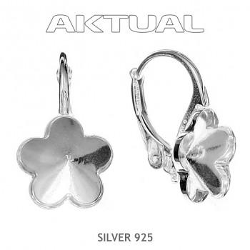 Náušnice klapka FLOWER 10mm, Ag925, 0.78g