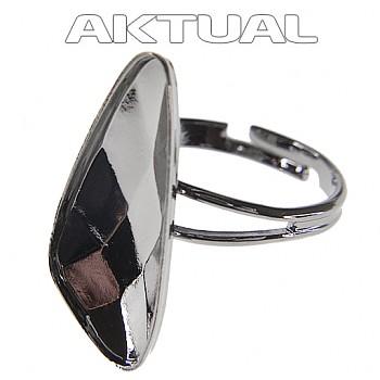 Prsten WING 23mm Rhodiovaný