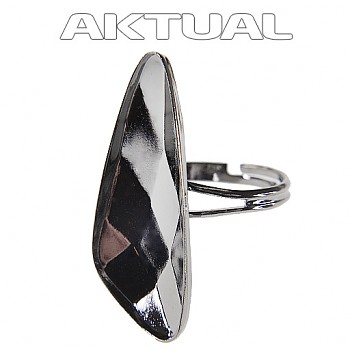 Prsten WING 32mm Rhodiovaný