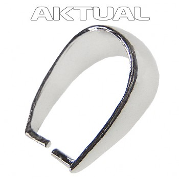 Bail SL002 Ag925 Rhodium Plated 5.5x12, 0.73g