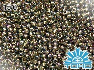 TOHO Gold-Lined Rainbow Black Diamond