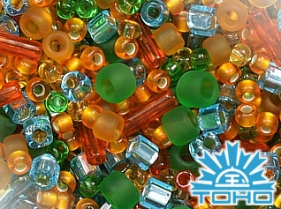 TOHO Haiku-Orange/Green/Blue Mix