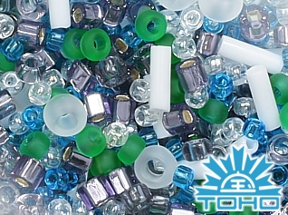 TOHO Fuji-White/Green/Blue/Purple Mix