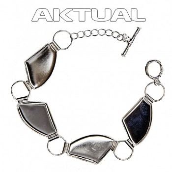 Bracelet GALACTIC 4x27mm toggle clasps Rhodium