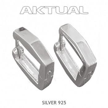 Náušnice Ag925 15x15mm Čtvereček 4g