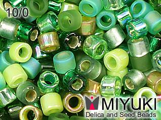 MIYUKI DELICA 10/0 Mix evergreen