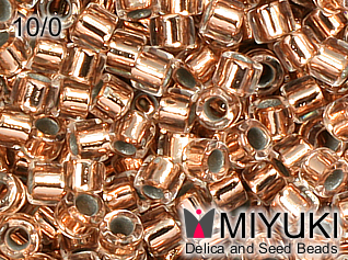 MIYUKI DELICA 10/0 Copper lined Crystal
