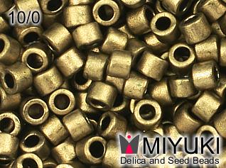 MIYUKI DELICA 10/0 Matte Metallic gold