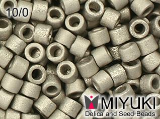 MIYUKI DELICA 10/0 Matte Metallic Silver